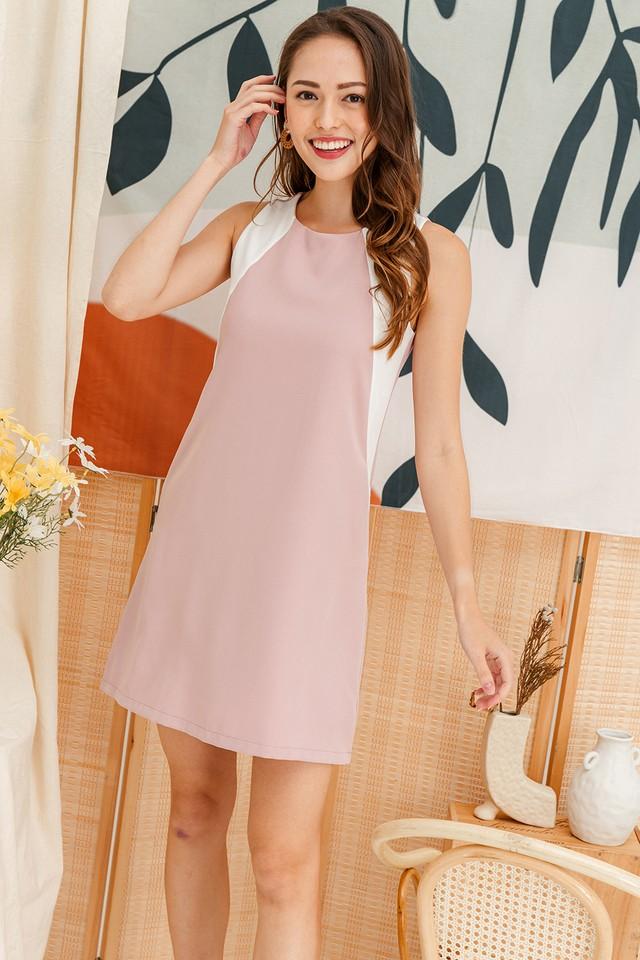Porter Colourblock Dress Pink