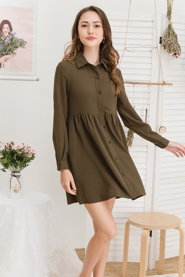 Kaykay Shirtdress Army