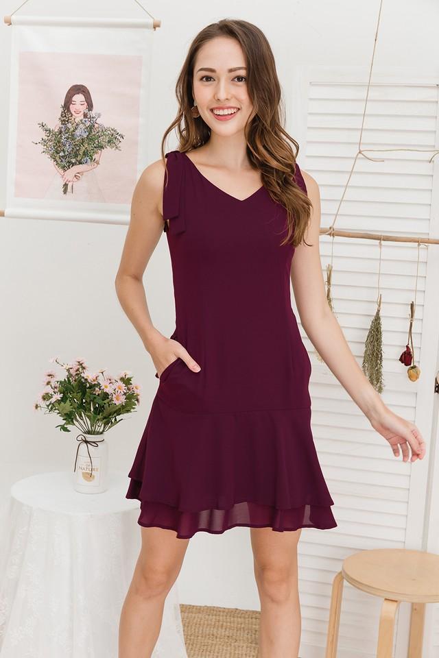 Mira Dress Burgundy