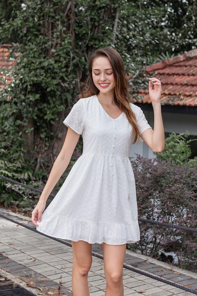 Vedda Eyelet Dress White
