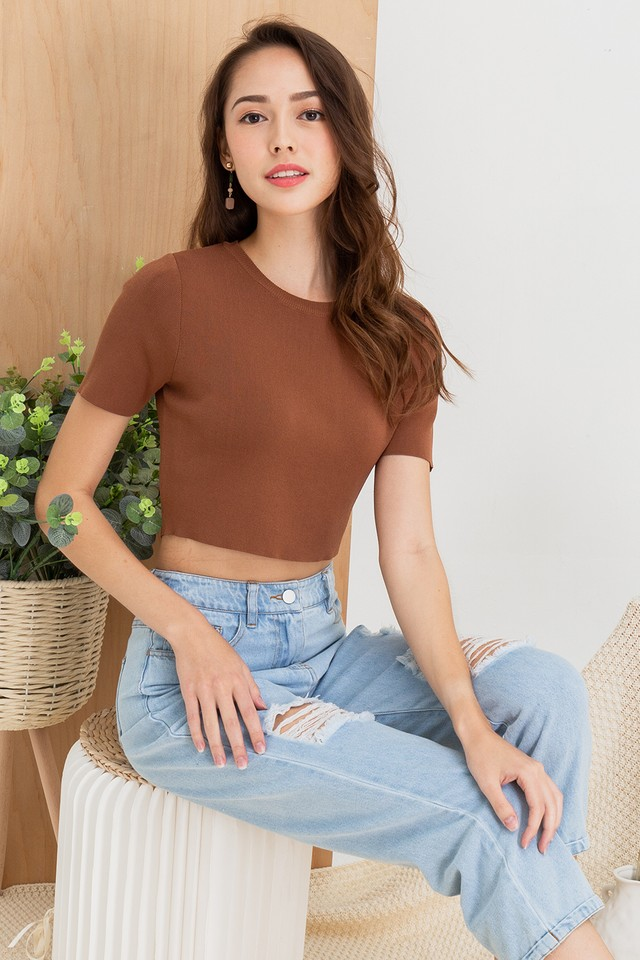 Ashton Knit Top Coffee