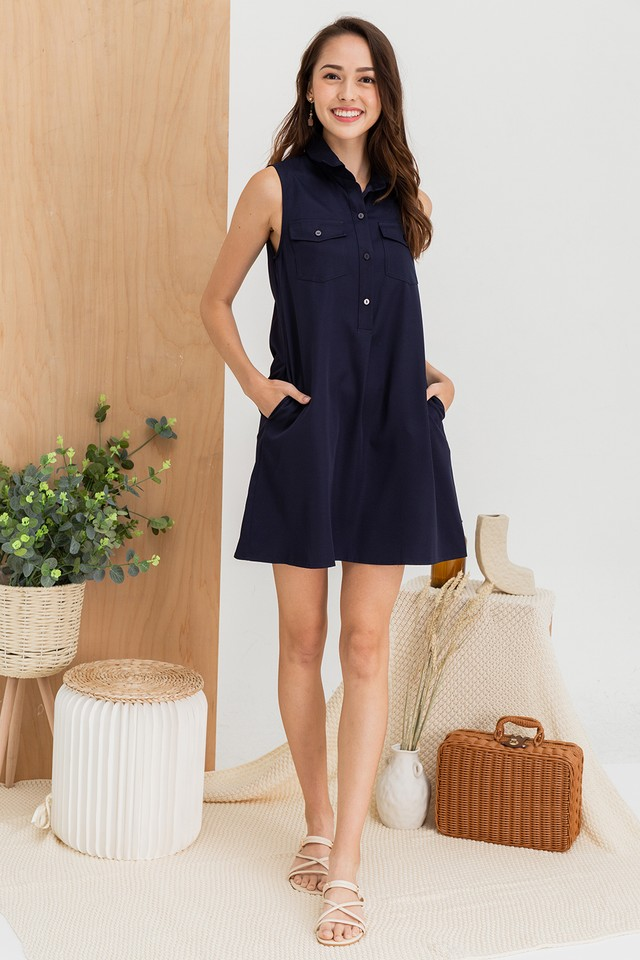 Quinna Shirtdress Navy