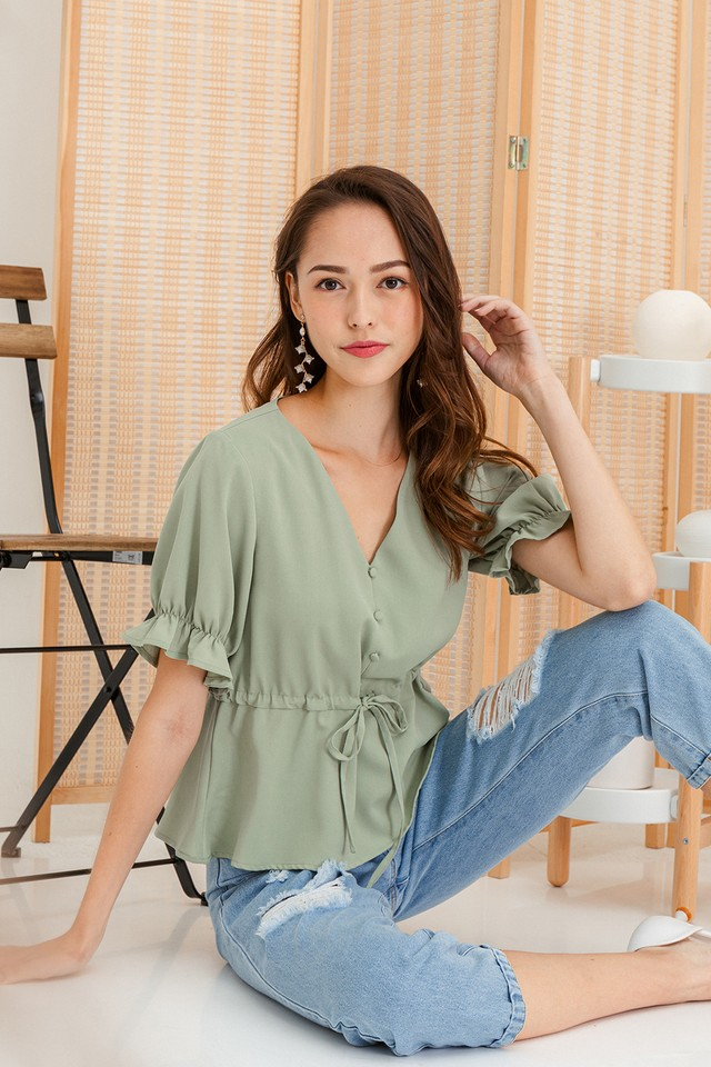 Saralyn Top Pine Green