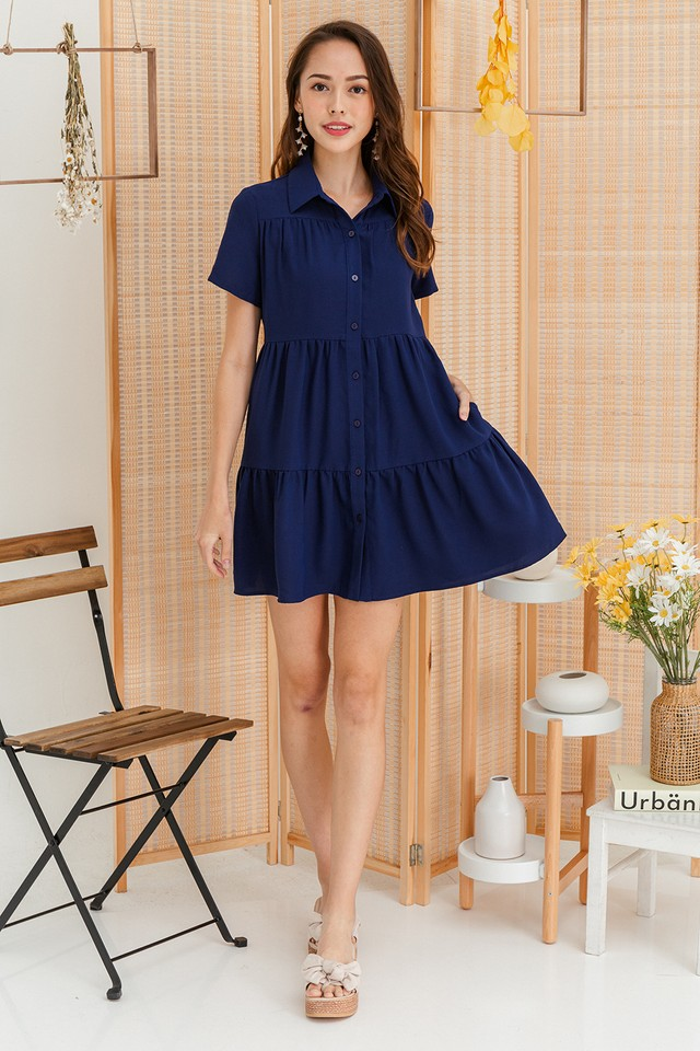Jordana Shirtdress Navy