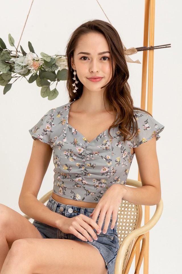 Rachael Top Mint Floral