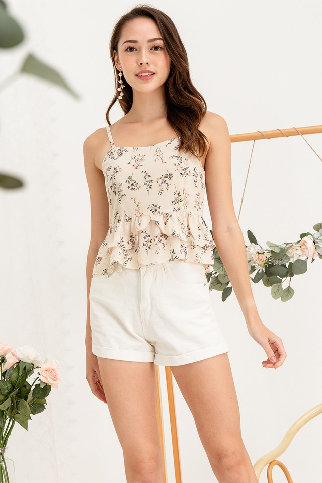 Jamie Top Cream Floral