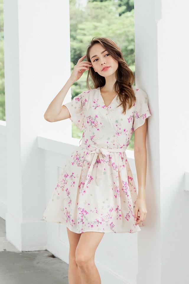 Serena Dress Pink Floral