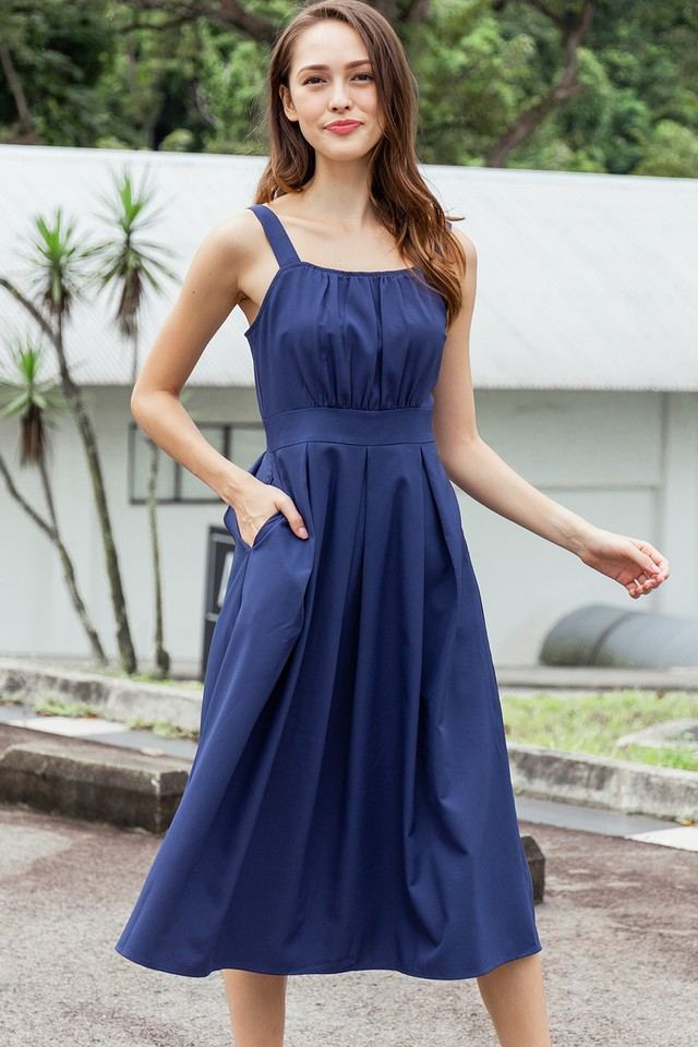 Lenora Dress Navy