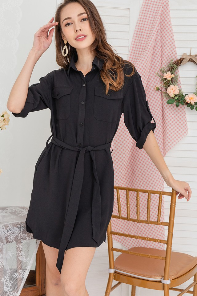 Devin Shirtdress Black