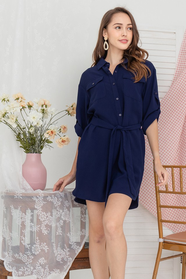 Devin Shirtdress Navy
