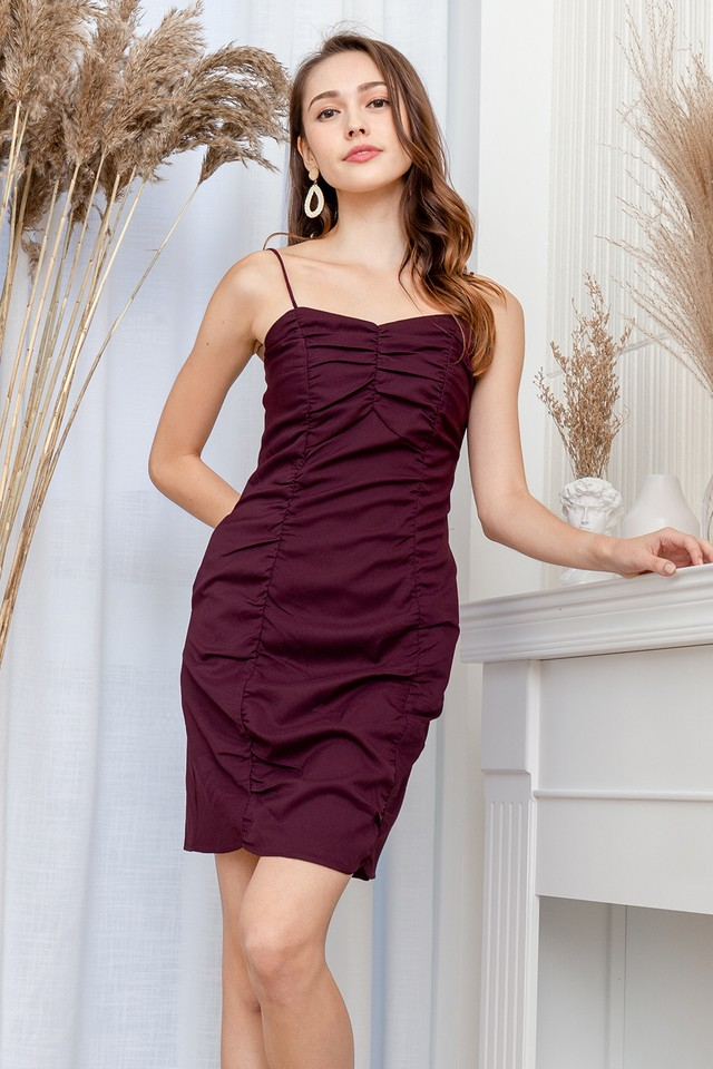 Mazie Dress Burgundy