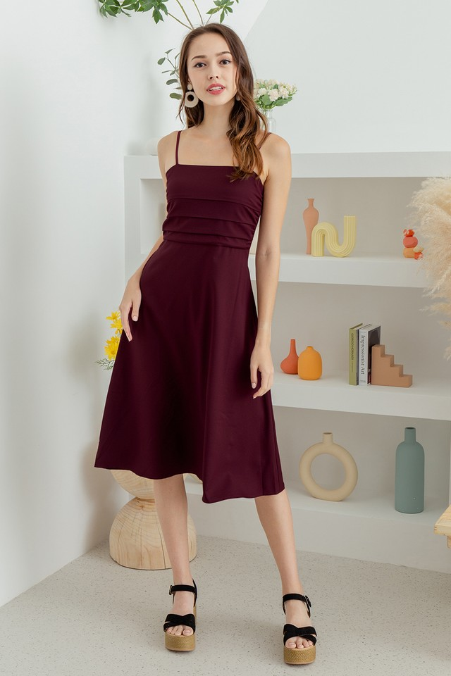 Mathilde Dress Maroon