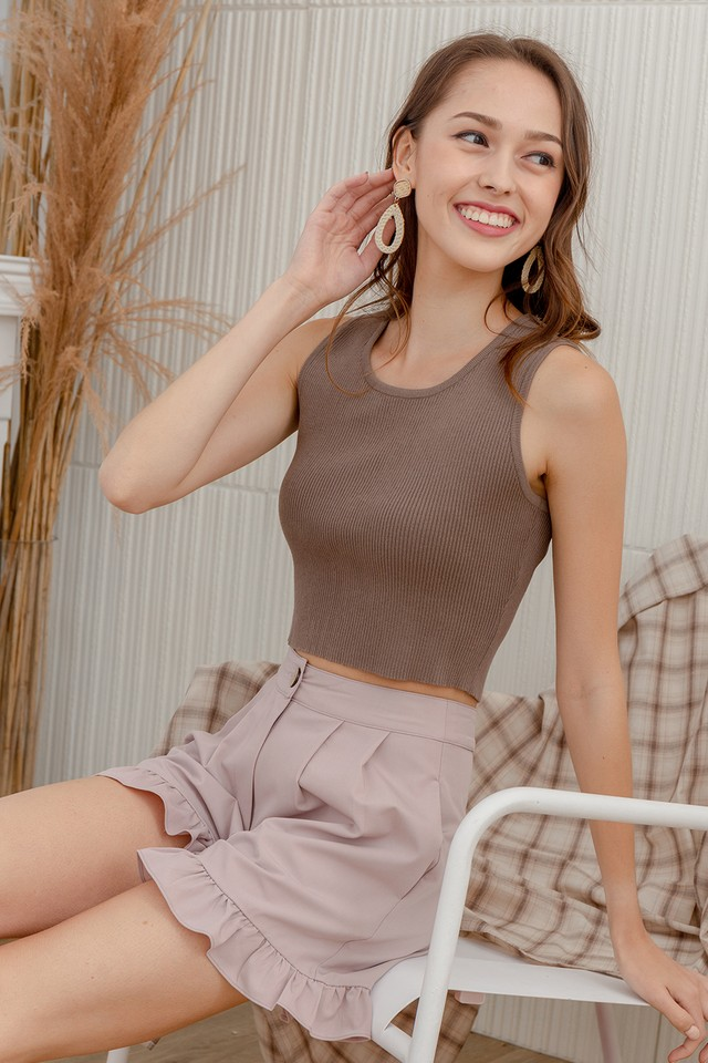 Wilmer Knit Top Taupe