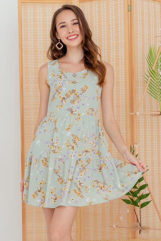 Cori Dress Sage Floral