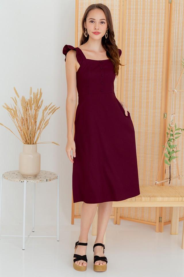 Denvera Dress Maroon
