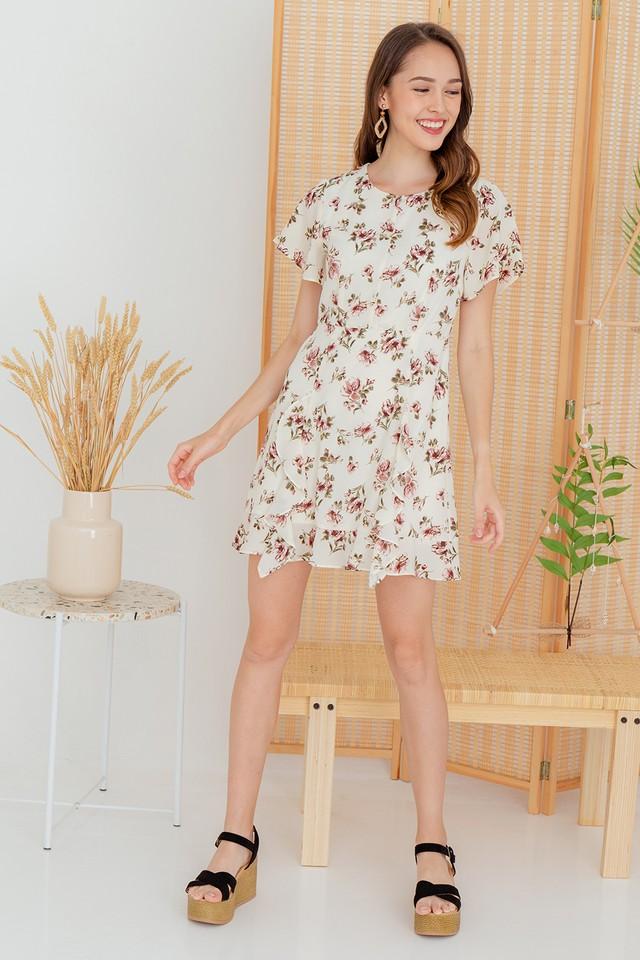 Karia Dress White Floral