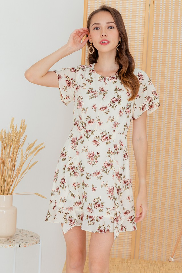 Karia Dress White Floral