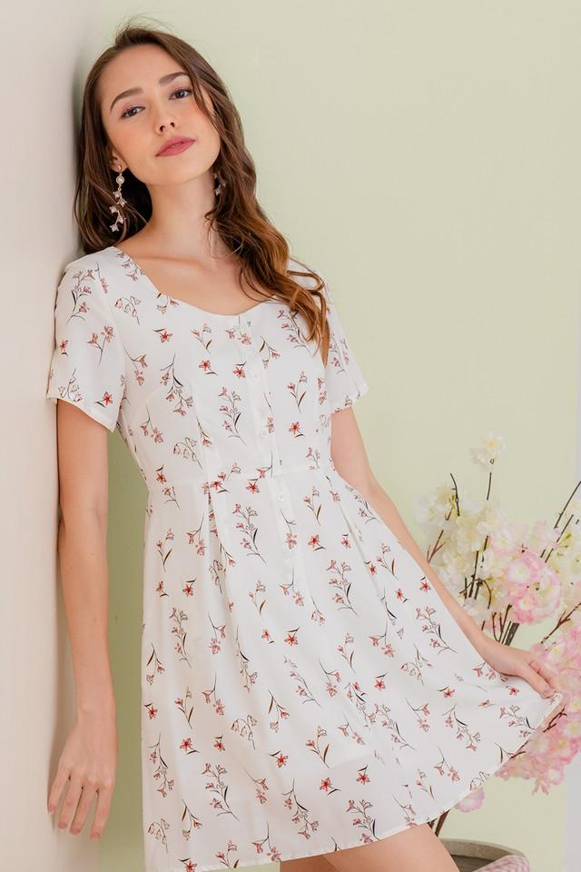 Yandel Dress White Floral