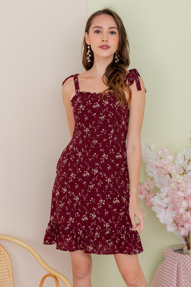 Paxton Maroon Floral