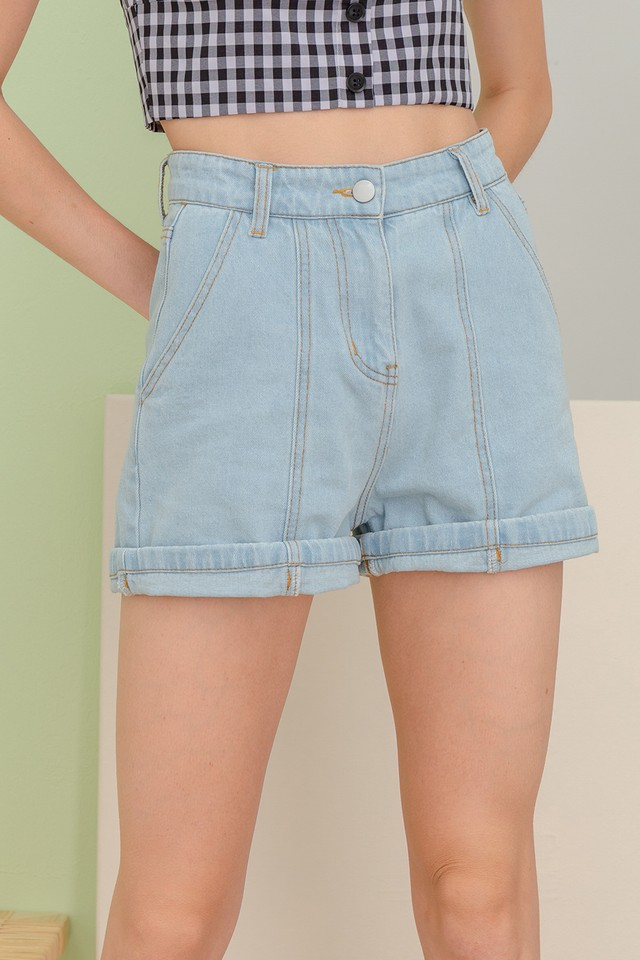 Anissa Denim Shorts Light Wash