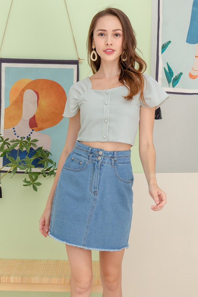 Pira Denim Skirt Mid Wash