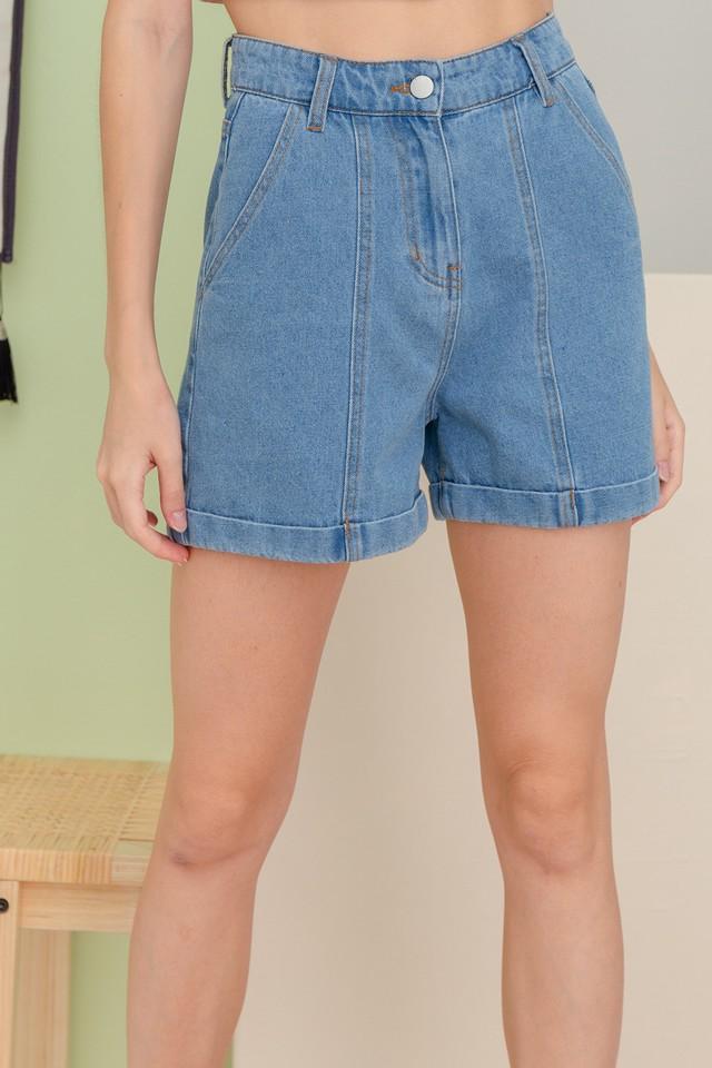 Anissa Denim Shorts Mid Wash