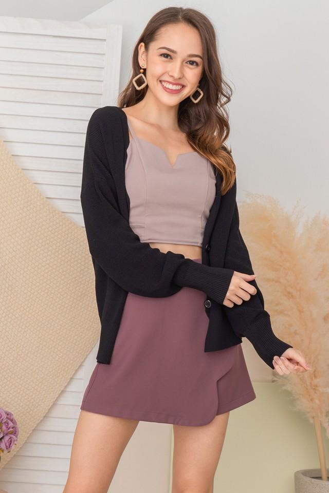Levina Knit Cardi Black