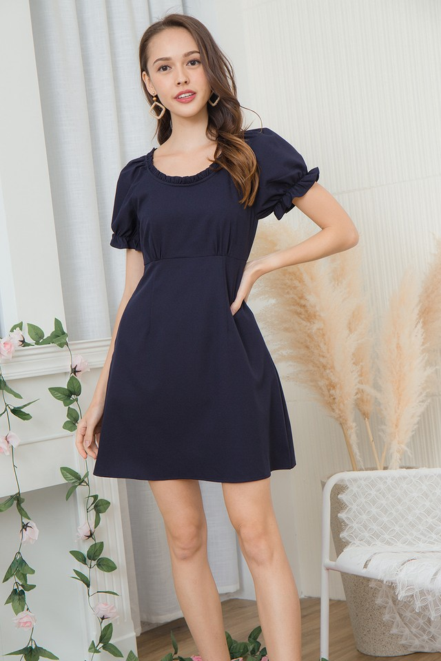 Scottia Dress Navy