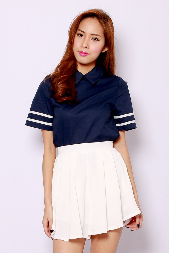 SSD Double The Line Top Navy