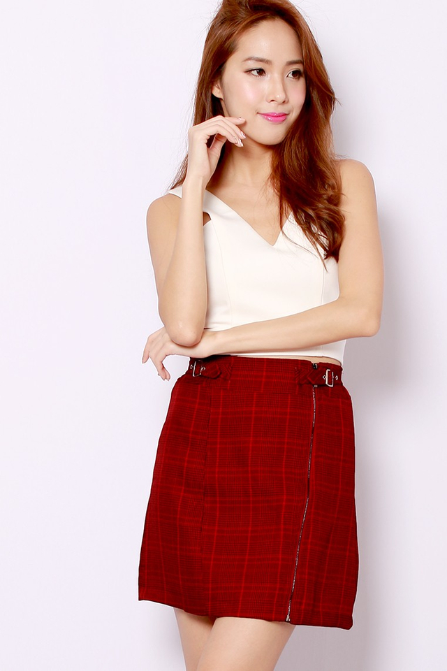 SSD Buckle Up Skirt (Maroon)