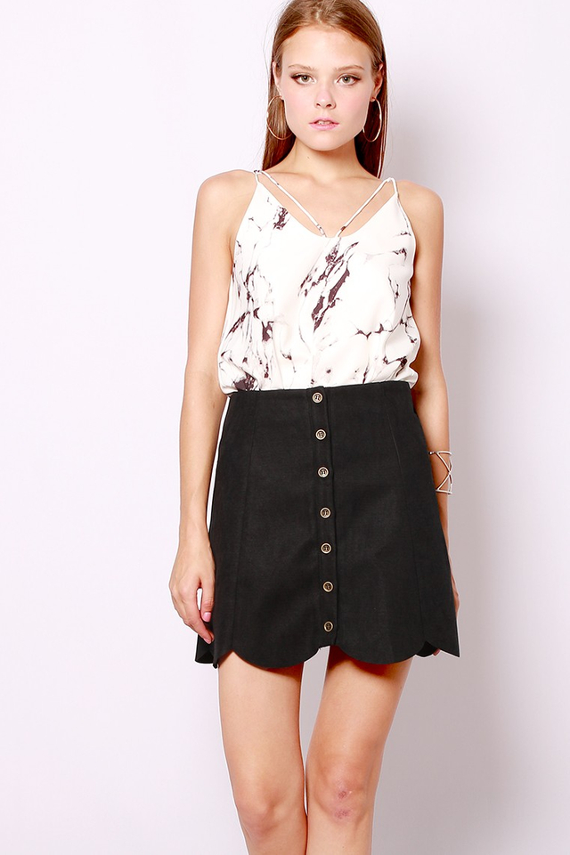SSD Peyton Scallop Skirt (Black)