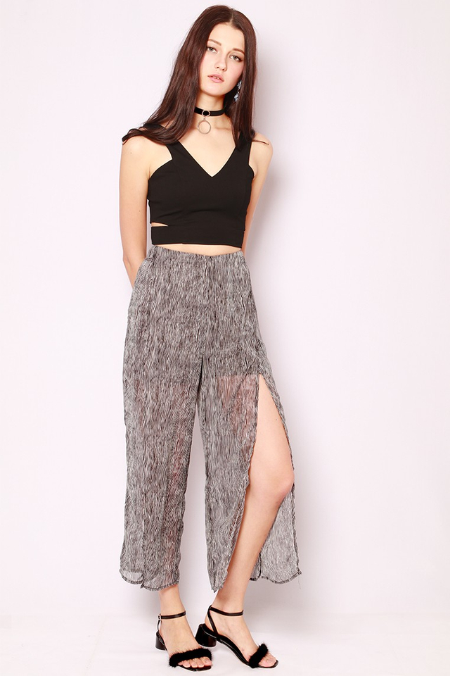 SSD Beatrice Slit Pants Stripes