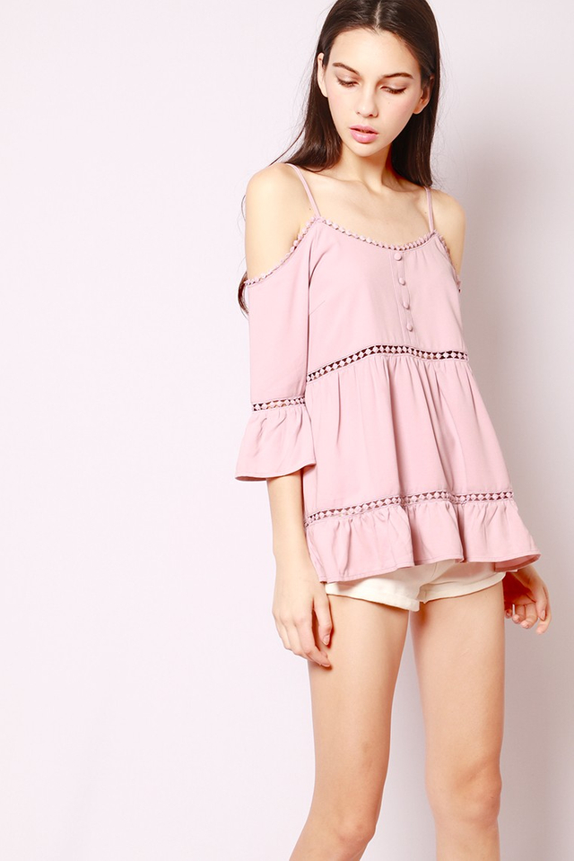 SSD Liah Crochet Top Dusty Pink