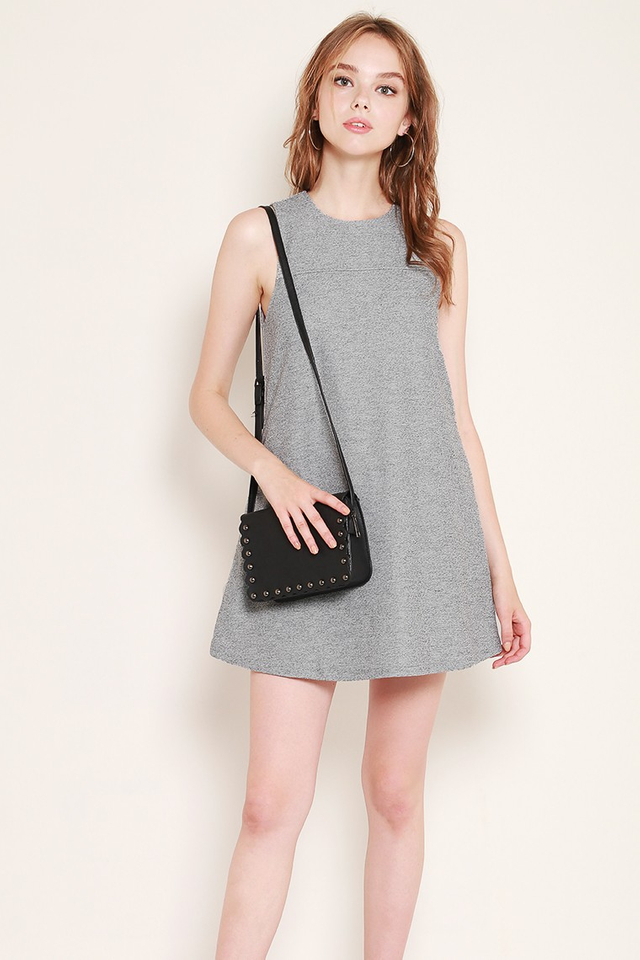 Athena Dress Grey Tweed