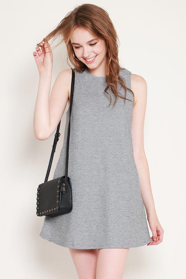 Athena Dress Grey Tweed
