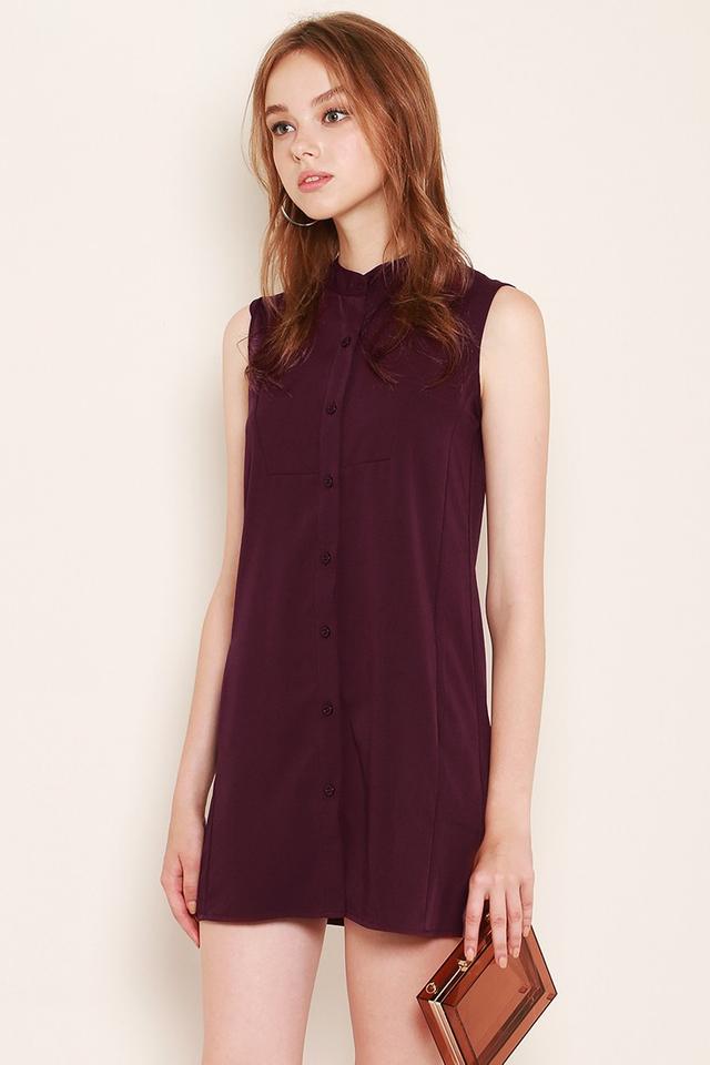 Jordyn Shirtdress Burgundy