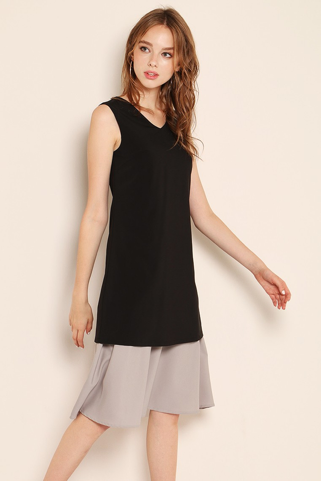 Tinley Dress (Black/Grey)