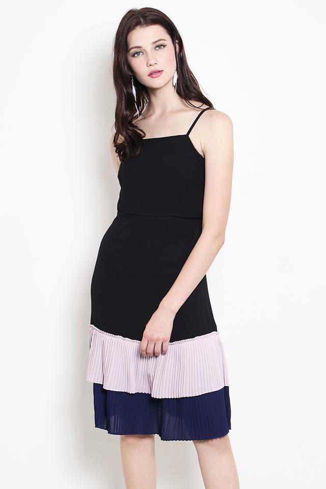 Tiana Colourblock Dress Black