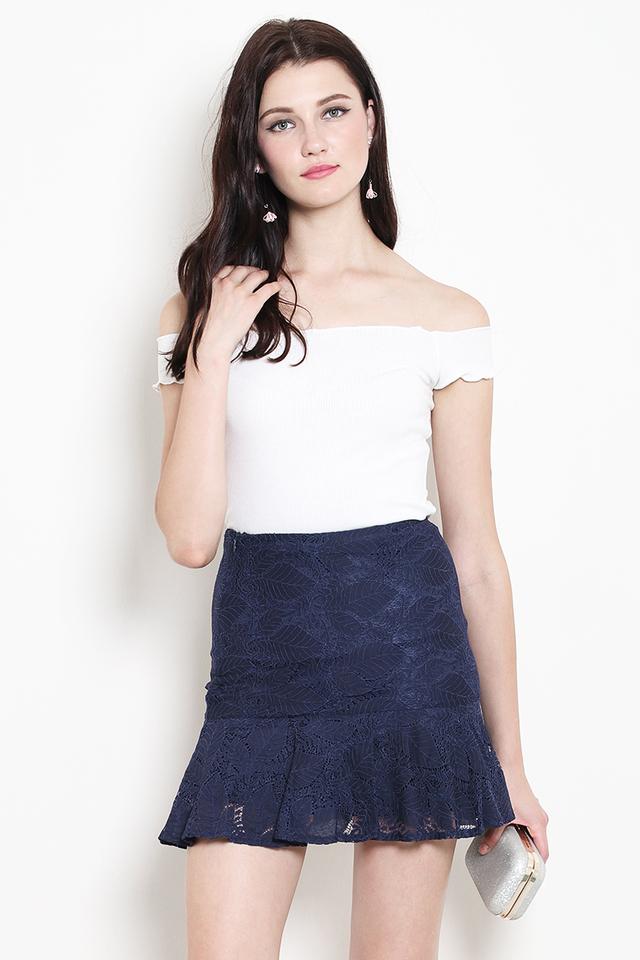 Lila Lace Skirt Navy