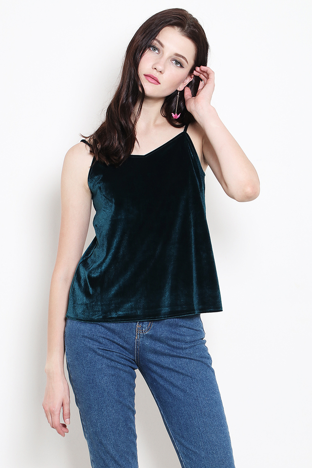 Revia Velvet Top Forest