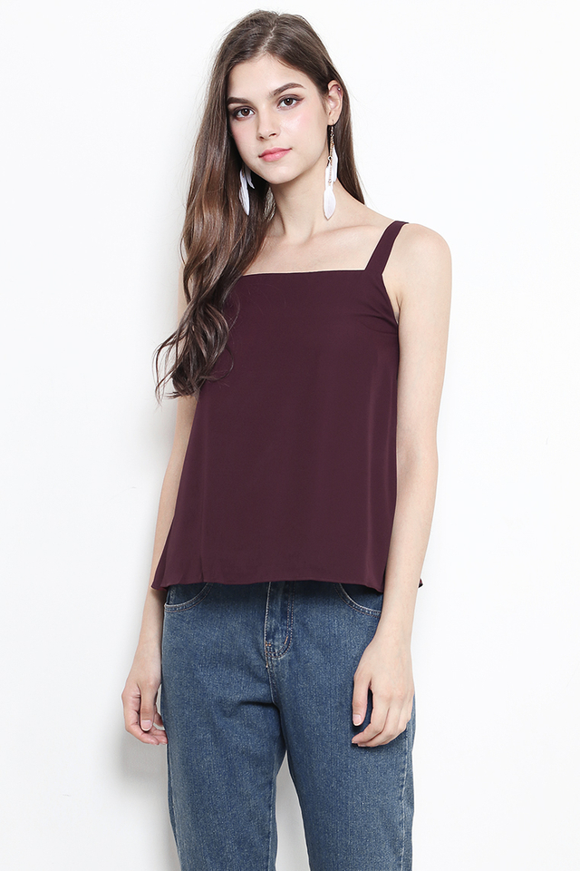 Chenille Top Burgundy