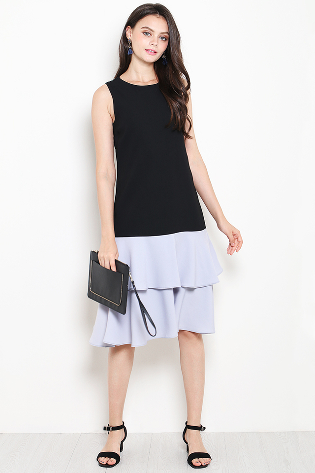 Kira Dress Black/Grey