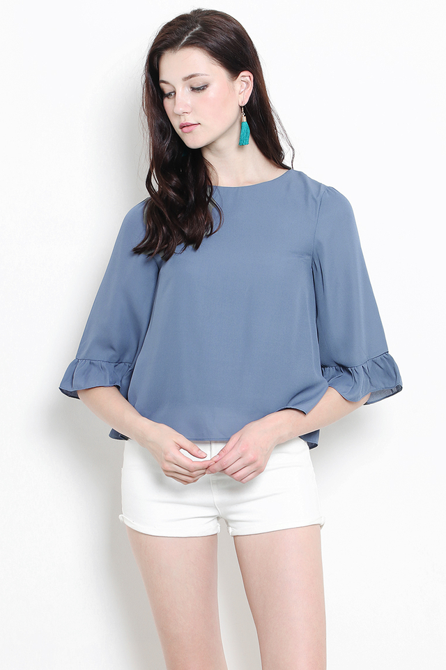 Verina Top Ash Blue