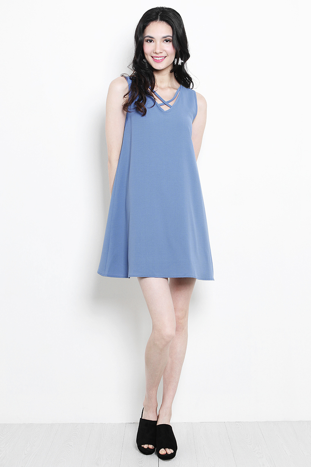 Rikki Dress Ash Blue