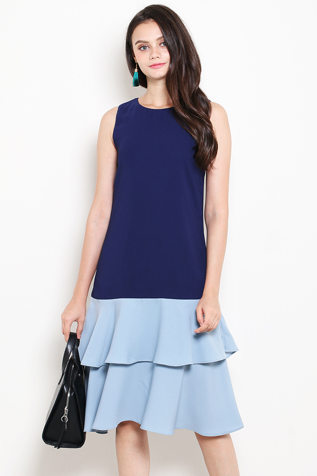 Kira Dress Navy/Blue