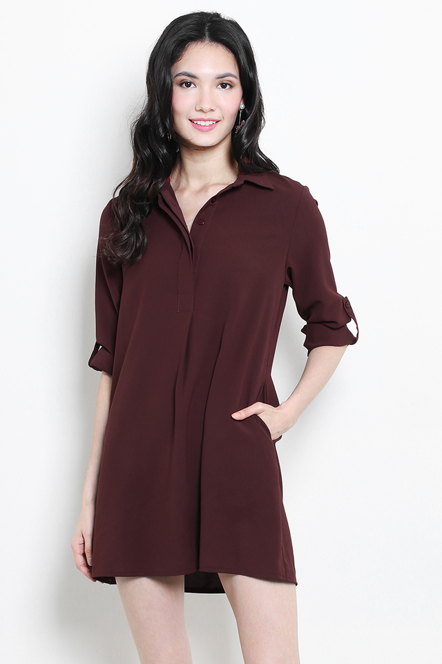 Ondine Shirtdress Terracotta