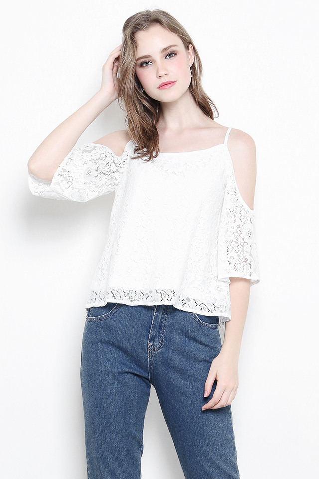 Colette Lace Top White