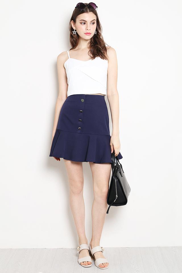 Belita Button Skirt Navy