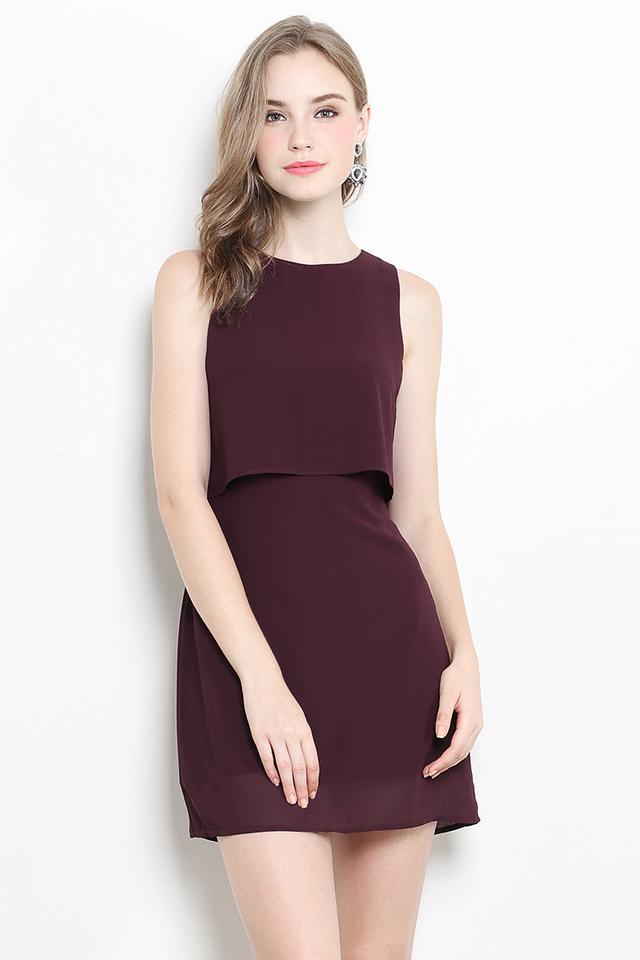 Keretha Dress Burgundy