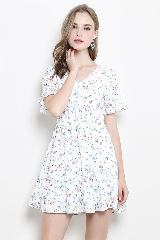 Xenia Dress White Floral